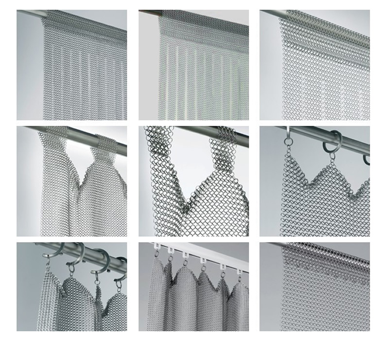 Nine Different Indicator Diagrams Of Chainmail Curtain Installation