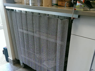Metal Coil Drapery For Curtain Space Divider